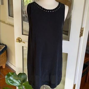 Silk Dress Joie black with lacing detail
